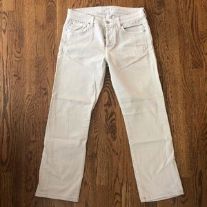 7 for all mankind light grey jeans